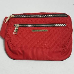 Steve Madden red quilted belt bag fanny pack